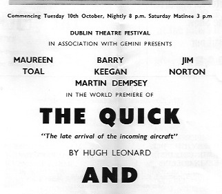 The Quick - late arrival etc 1967